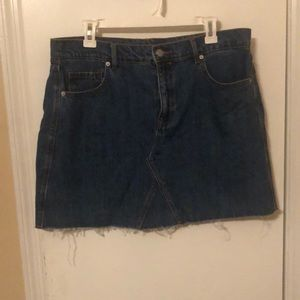 OLD NAVY DENIM MINI SKIRT SZ 14